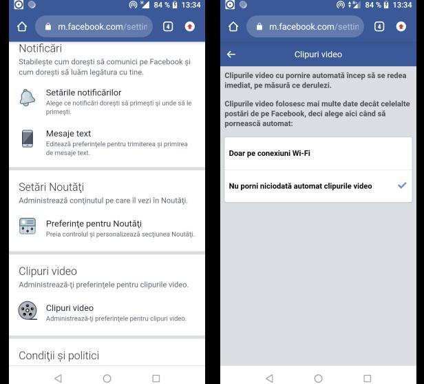 blocarea videoclipurilor pe Facebook din browser