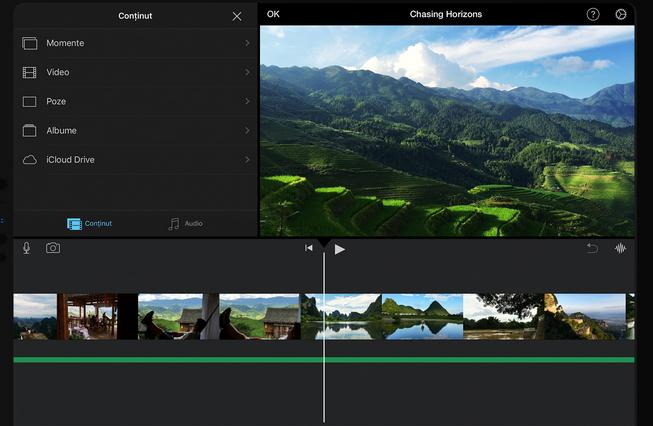 iMovie program de editare video gratis