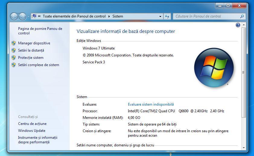 de unde stiu pe cati biti e Windows-ul meu