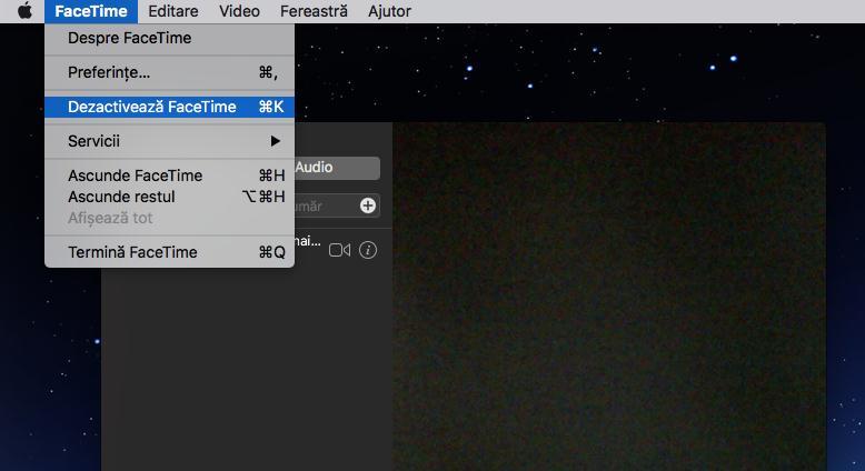 Dezactivare FaceTime pe Mac