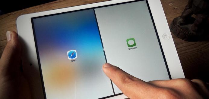 Împărțire ecran în două pe iPad