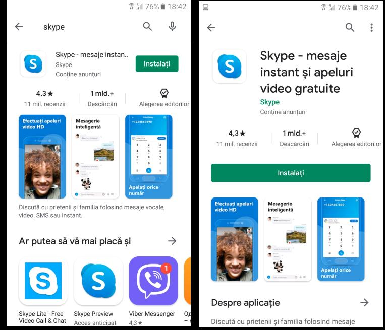 Download skype pe telefon Android