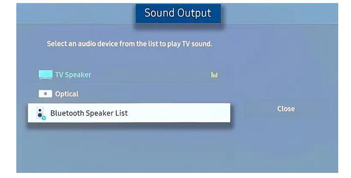 Activare Bluetooth pe TV Samsung pentru audio