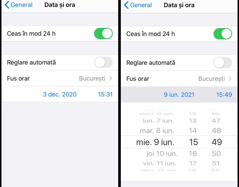 Rețea de date mobile pe iPhone