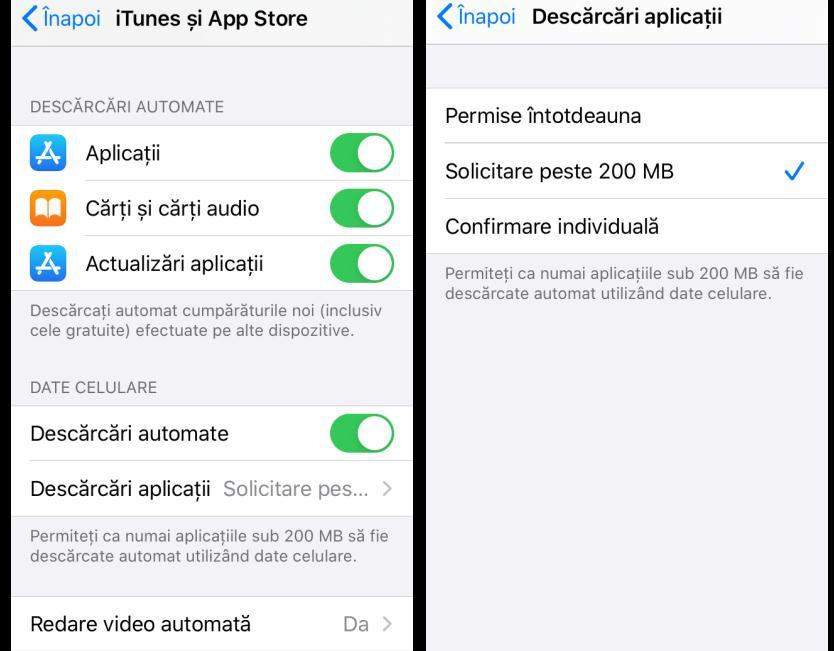 Actualizare aplicații pe iPhone fără WiFi