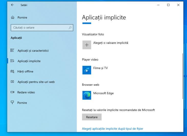Aplicatii implicite