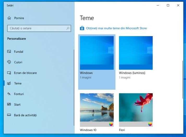 Schimbare imaginea de fundal Windows 10