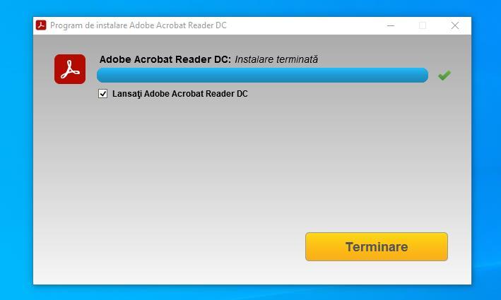 Instalare Adobe Reader pe Windows