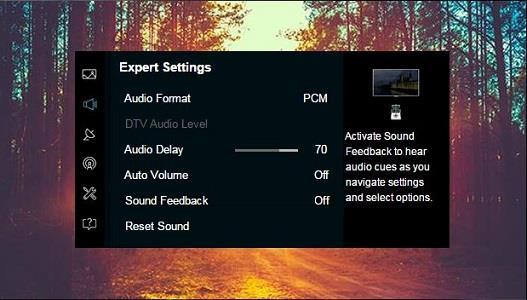 Test audio la TV Samsung