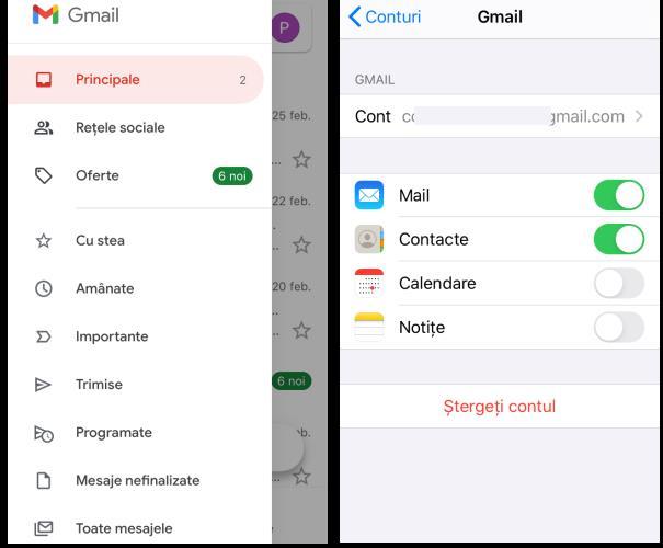 Aplicația Gmail