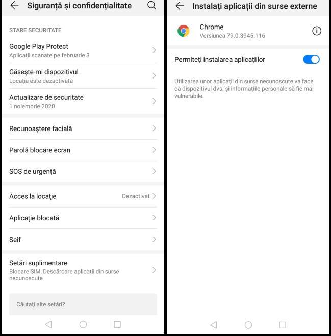 Instalare APK Android