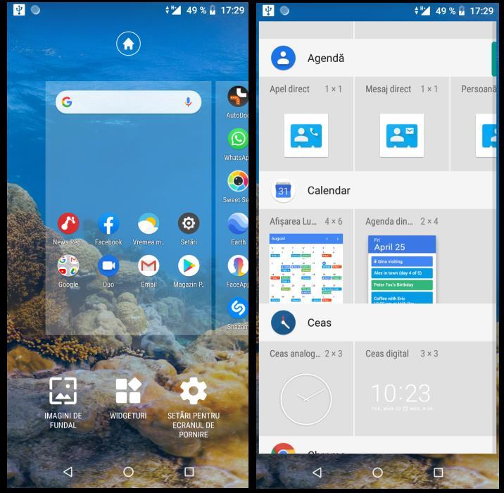 Utilizarea widget-urilor pe Android