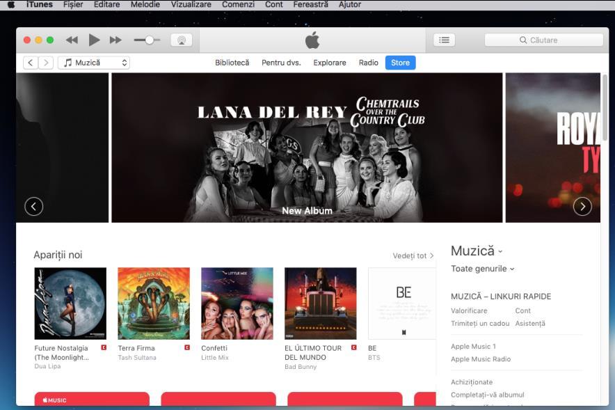Instalare iTunes pe Mac