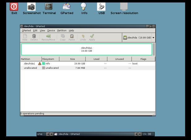 Programe de formatat HDD GParted Live