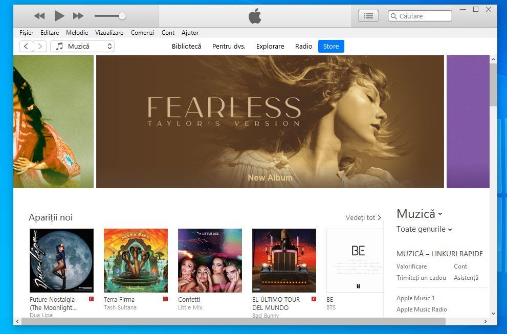 Instalare iTunes pe laptop sau PC