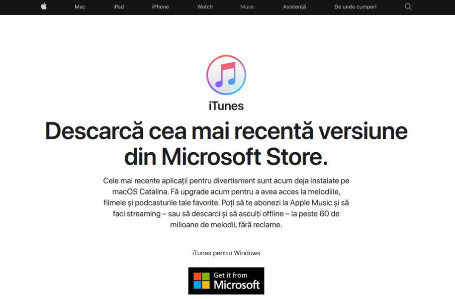 iTunes Windows 10