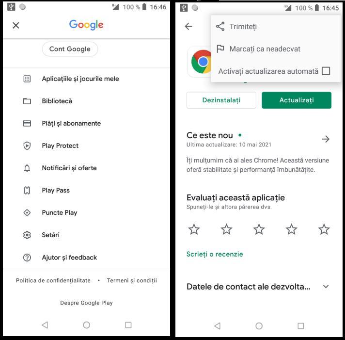 Actualizare automată aplicații Android