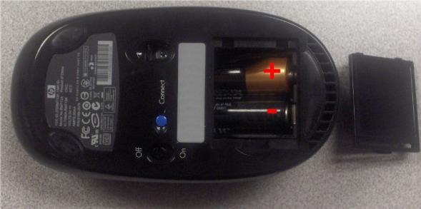 Controlează bateria la mouse