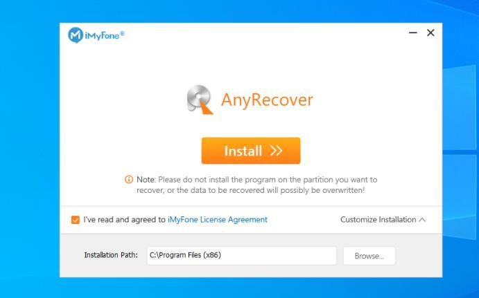 Instalare iMyFone pe PC