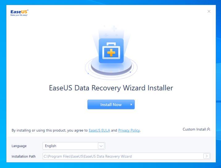 Instalare EaseUS Data Recovery