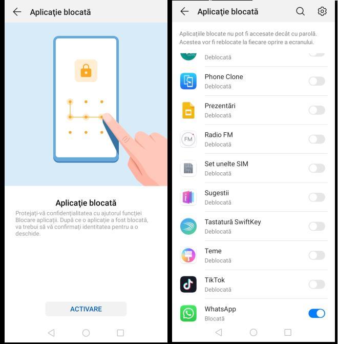 Funcția pentru blocare aplicații Android