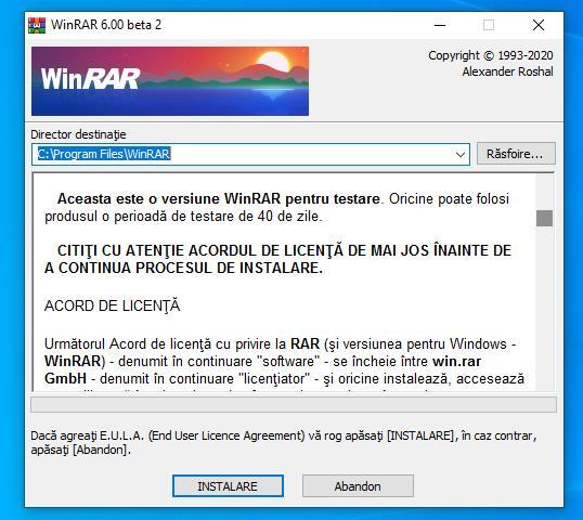 Download WinRAR gratuit în română