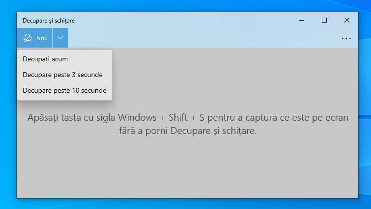 Decupare și schițare Windows 10