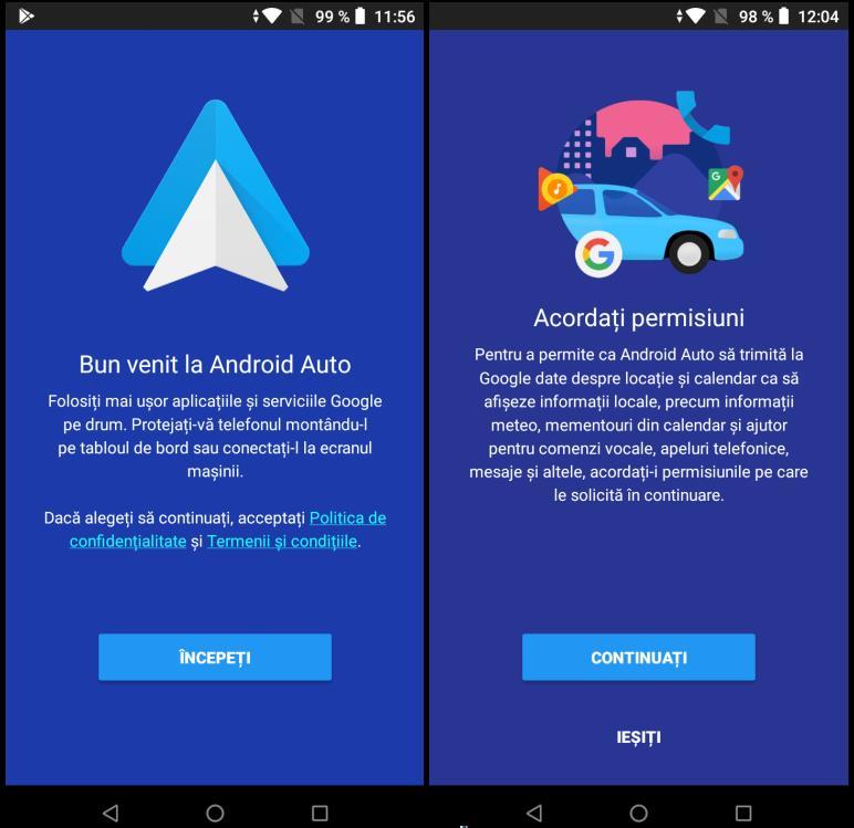 Instalare Android Auto pe telefon