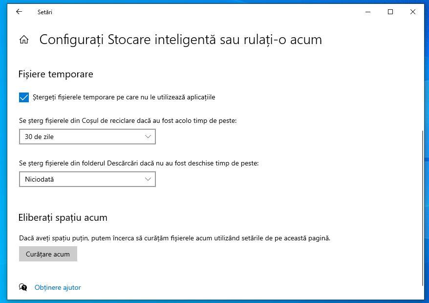 Golire memoria cache pe PC cu Windows 10