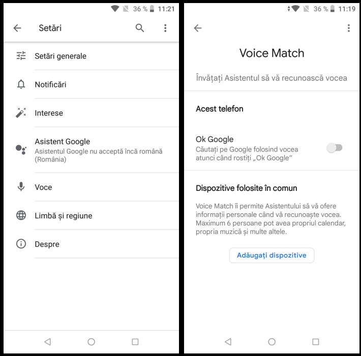 Dezactivare OK Google pe Android