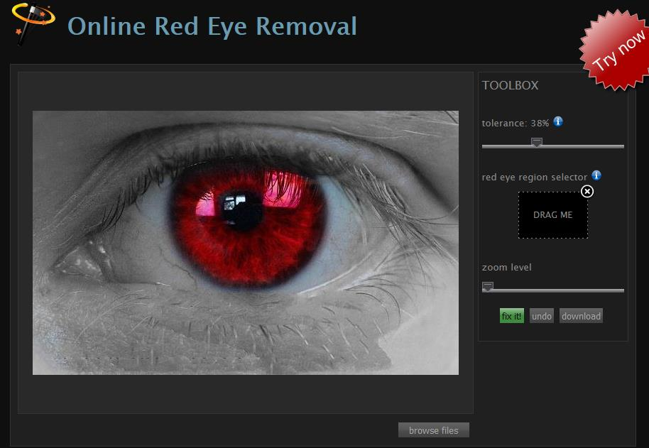 Corectare ochi roșii online