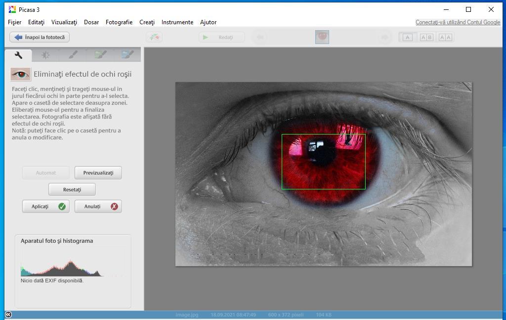 Program de scos ochii roșii din poze gratis