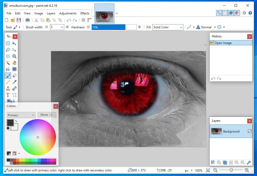 Eliminare ochi roșii din poze