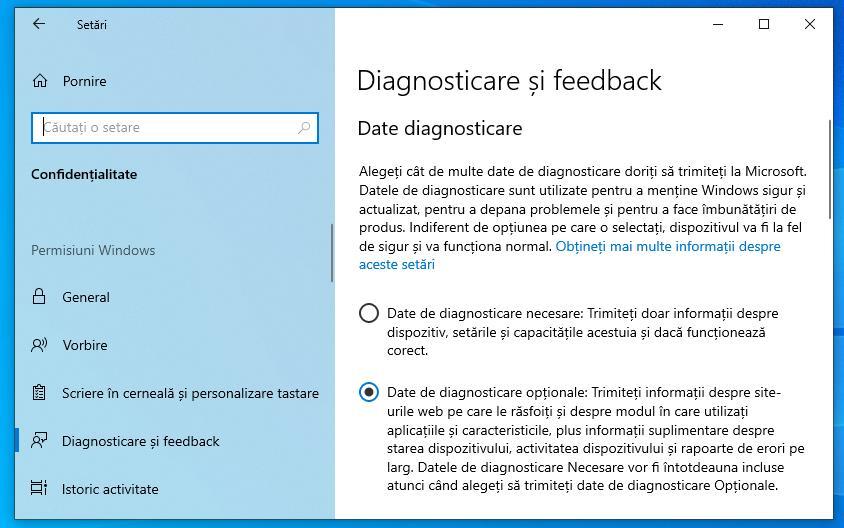 Setări pentru download Windows 11 beta
