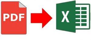 Transformare PDF în Excel