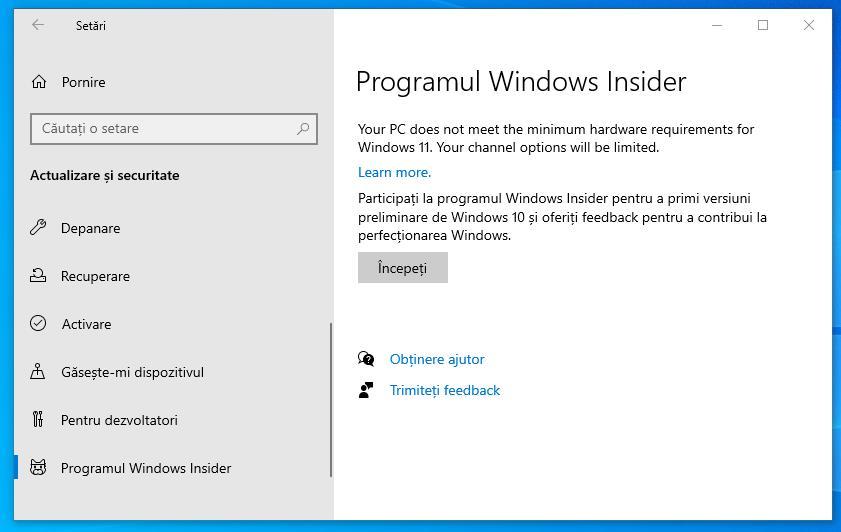 Descarcă gratis Windows 11 cu Insider
